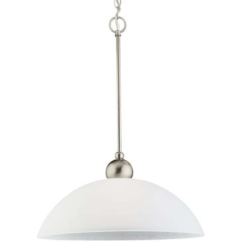 Metropolis One Light Pendant Brushed Nickel Bulbs Inc