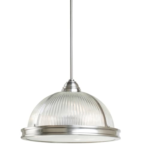 Pratt Street Prismatic Three Light Pendant Brushed Nickel