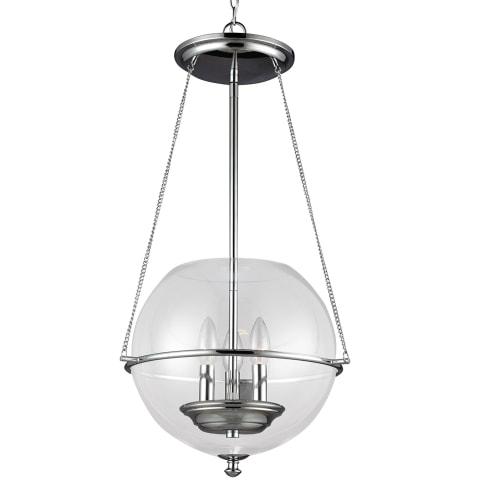 Havenwood Three Light Pendant Chrome Bulbs Inc