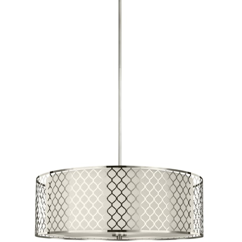 Jourdanton Four Light Pendant Brushed Nickel