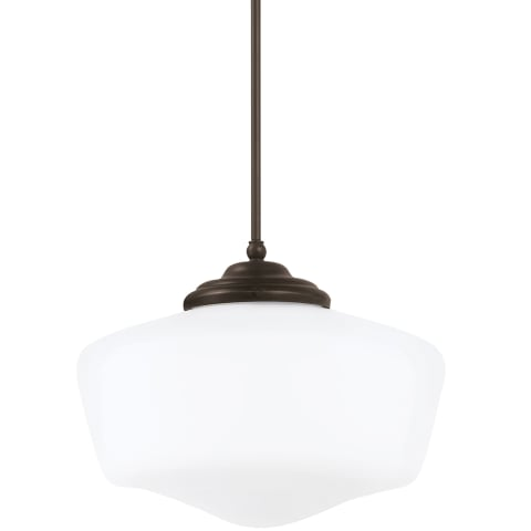 Academy Extra Large One Light Pendant Brushed Nickel