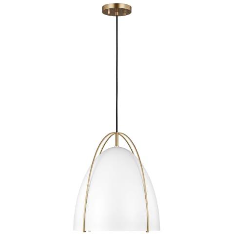 Norman One Light Pendant Satin Bronze Bulbs Inc