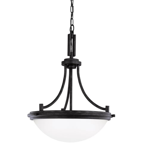 Winnetka Three Light Pendant Blacksmith