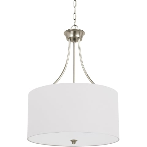 Stirling Three Light Pendant Brushed Nickel