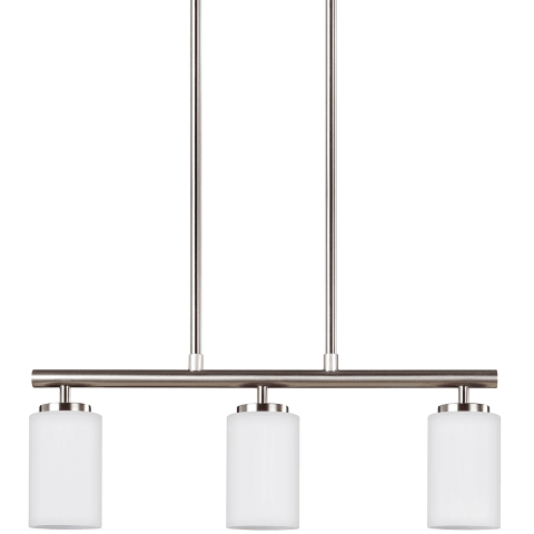 Oslo Three Light Island Pendant Brushed Nickel