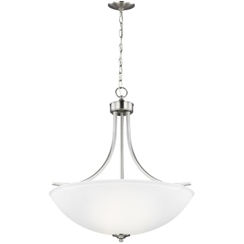 Geary Large Four Light Pendant Brushed Nickel
