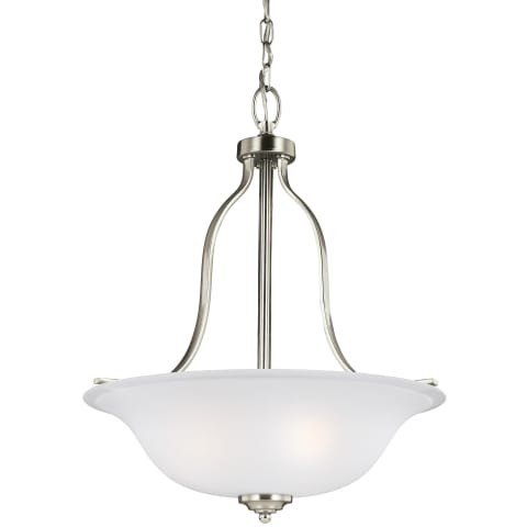 Emmons Three Light Pendant Brushed Nickel Bulbs Inc