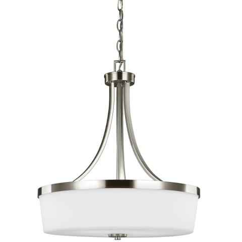 Hettinger Three Light Pendant Brushed Nickel