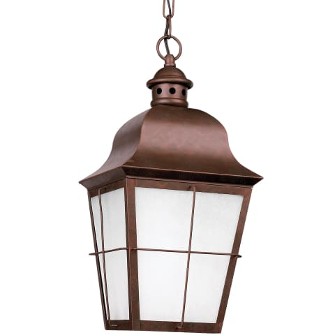 Chatham One Light Outdoor Pendant Weathered Copper Bulbs Inc