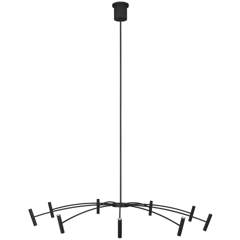 Aerial 55 Chandelier matte black 3000K 90 CRI integrated led 90 cri 3000k 120v (t20/t24)