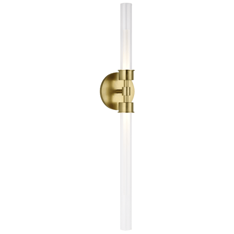 Linger Wall/Bath 2-Light Vanity Natural Brass 3000K 90 CRI Integrated LED 3000k 120v (T24)