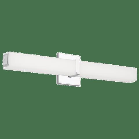 Milan 24 Bath White Acrylic chrome 3000K 90 CRI led 90 cri 3000k 120v (t24)