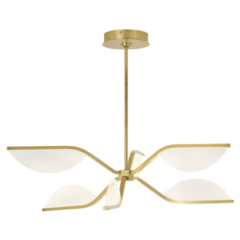 Belterra 30 Chandelier 30 natural brass 3000K 90 CRI integrated led 90 cri 3000k 120v