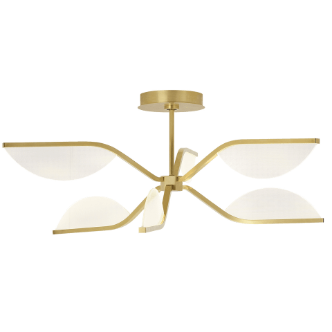 Belterra 30 Flushmount/Chandelier 30 natural brass 3000K 90 CRI integrated led 90 cri 3000k 120v