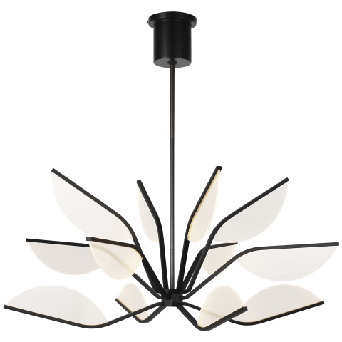 "Belterra 38 Chandelier 38"" Diameter matte black 3000K 90 CRI integrated led 90 cri 3000k 120v (t20/t24)"