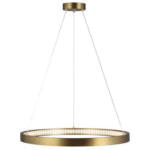 "Bodiam 30 Suspension 30"" Diameter aged brass 3000K 90 CRI integrated led 90 cri 3000k 120v (t24)"