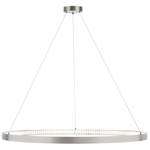 "Bodiam 48 Suspension 48"" Diameter satin nickel 3000K 90 CRI integrated led 90 cri 3000k 120v (t24)"