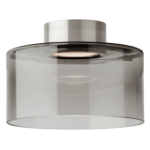 Manette Large Flush Mount Large Transparent Smoke satin nickel 3000K 80 CRI led 80 cri 3000k 120v