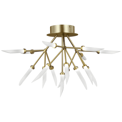 Spur Ceiling aged brass 2700K 90 CRI integrated led 90 cri 2700k 120v-277v unv (t24)