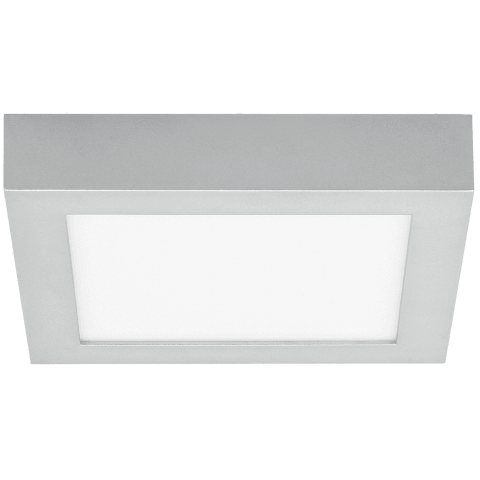 Tenur Square 9 Flush Mount 9 silver 3000K 90 CRI integrated led 90 cri 3000k 120v