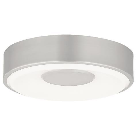 Wynter Round 8 Flush Mount Small satin nickel 3000K 80 CRI led 80 cri 3000k 120v