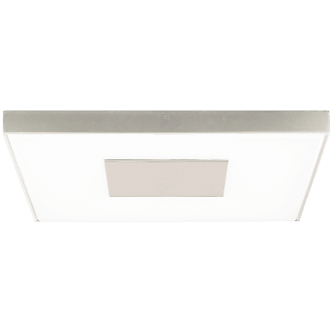 Wynter Square 22 Flush Mount Large satin nickel 3000K 80 CRI led 80 cri 3000k 120v