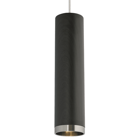 Dobson Pendant MonoPoint Weathered Gray Oak satin nickel no lamp