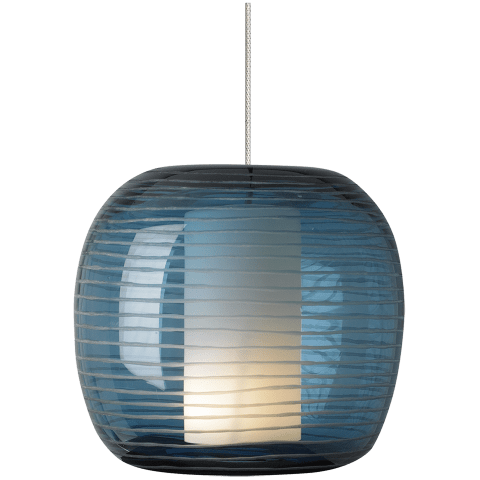 Otto Pendant MonoPoint Steel Blue satin nickel 12 volt halogen (t20)