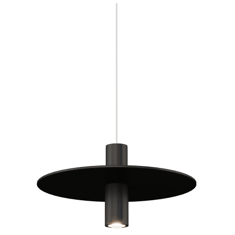 Mini Ponte Pendant MonoPoint nightshade black 3000K 90 CRI integrated led 90 cri 3000k 120v