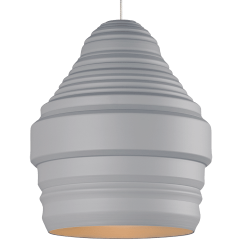 Mini Ryker Pendant MonoPoint Gray satin nickel no lamp