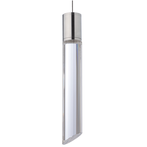 Tibor Pendant MonoPoint Clear satin nickel 12 volt led 80 cri 3000k