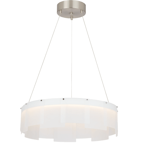 "Stratos 24 Chandelier 24"" Diameter Frost/Satin Nickel 2700K 90 CRI  led 90 cri 2700k 120v"