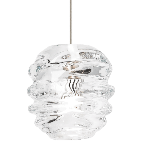 Audra Pendant Clear satin nickel 12 volt halogen (t20)