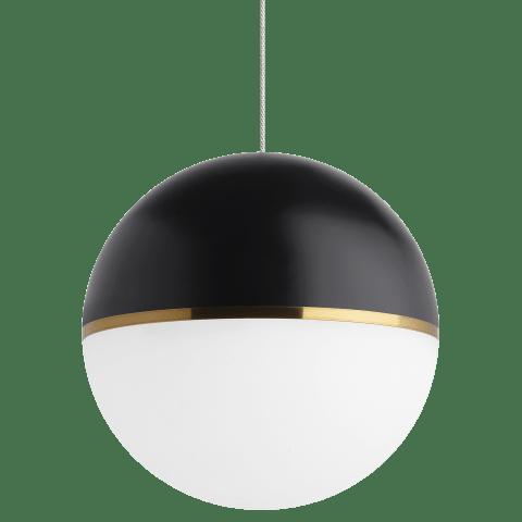 Akova Grande Pendant Matte Black/Aged Brass no lamp