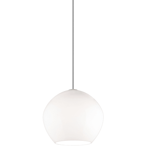 Cleo Medium Pendant Medium White satin nickel no lamp