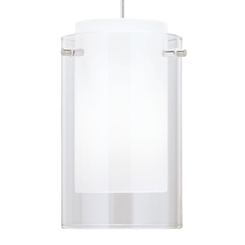 Echo Large Pendant Large Clear satin nickel no lamp
