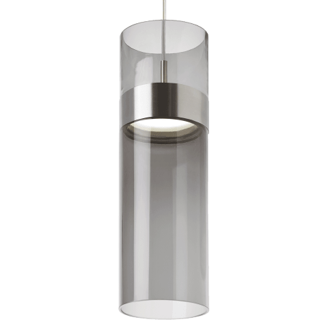 Manette Grande Pendant Transparent Smoke Glass satin nickel/satin nickel 3000K 90 CRI led 3000k 120v