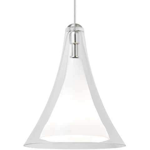 Melrose II Line-Voltage Pendant Clear satin nickel no lamp
