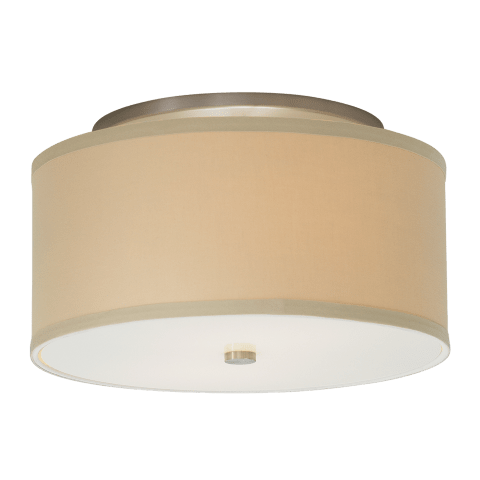 Mulberry Ceiling Large Desert Clay satin nickel no lamp