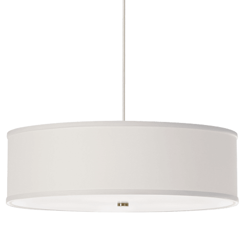 Mulberry Pendant White satin nickel no lamp