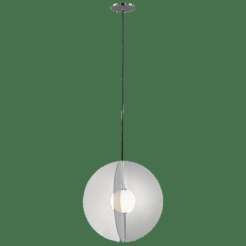 Orbel Round Pendant polished nickel no lamp