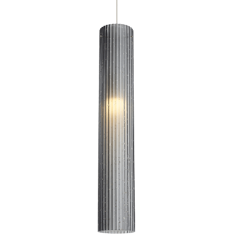 Rombo Grande Pendant Transparent Smoke satin nickel 3000K 90 CRI a19 led 90 cri 2700k 120v (t20/t24)
