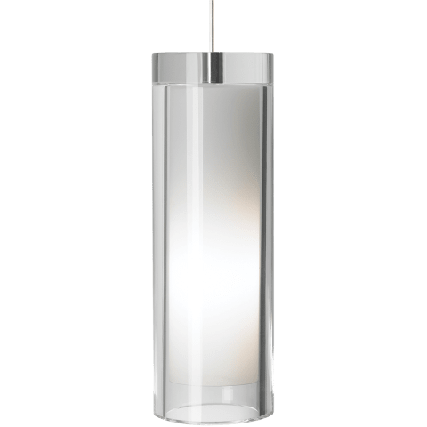 Sara Grande Pendant Clear satin nickel no lamp