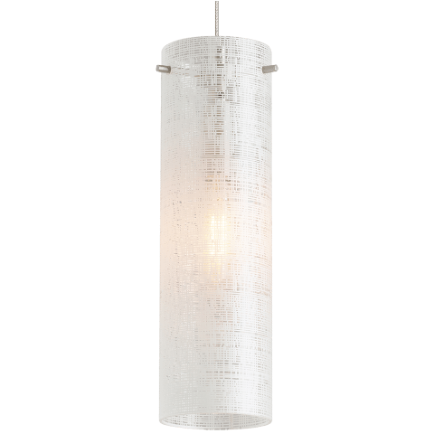 Vetra Pendant Linen satin nickel no lamp