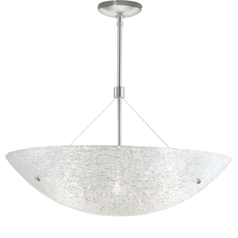"Trace Suspension 23 23"" Diameter Crystal satin nickel no lamp"