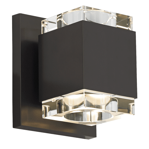 Voto Wall Square Clear antique bronze 3000K 80 CRI led 80 cri 3000k 120v