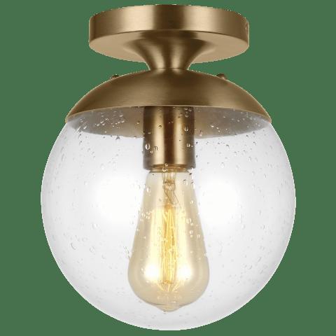 Leo - Hanging Globe One Light Wall / Ceiling Semi-Flush Mount Satin Bronze