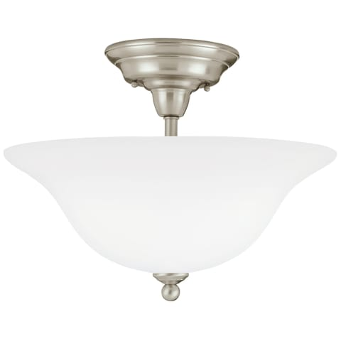 Sussex Three Light Semi-Flush Mount Brushed Nickel