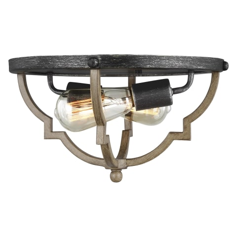 Socorro Two Light Flush Mount Stardust