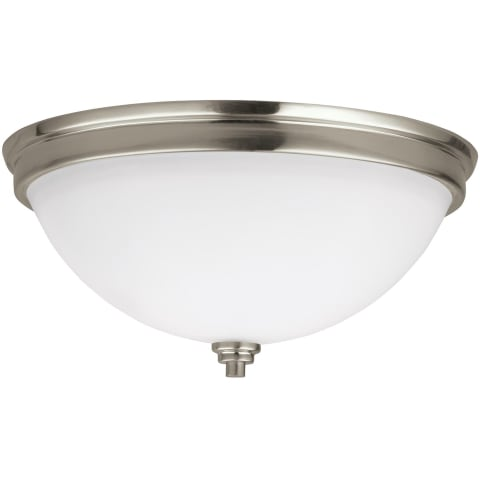 Parkfield Two Light Flush Mount Brushed Nickel Bulbs Inc